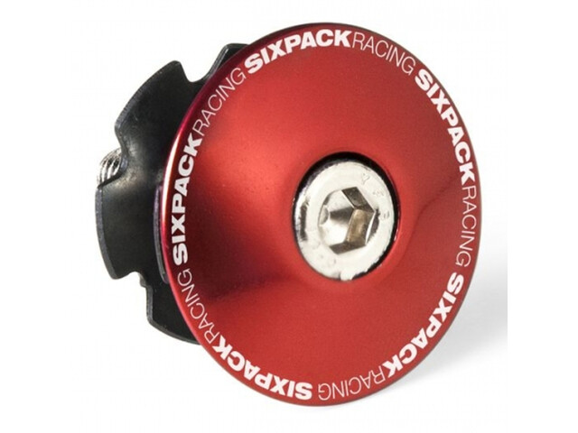 """Sixpack Bouchon A-head 1 1/8"""" avec pince, red"""